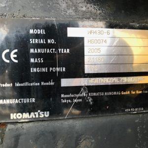 KOMATSU WA430